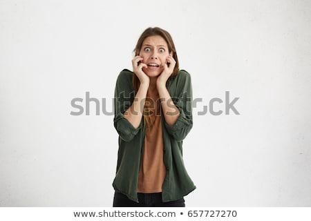 Stock photo: Horrified Woman