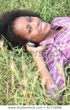 женщину области музыку наушники свободу Сток-фото © photography33