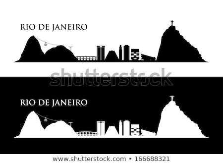 Silhueta Rio de Janeiro viajar país história cor Foto stock © perysty