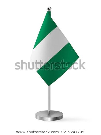 Miniatura banderą Nigeria odizolowany spotkanie Zdjęcia stock © bosphorus