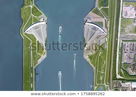 Storm surge barrier in The Netherlands Stock photo © compuinfoto