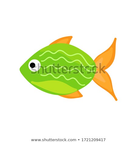 Verde peces vector color dibujado a mano resumen Foto stock © motttive