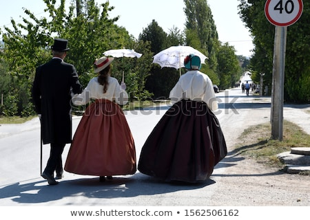 Lady in a historical frock stock photo © photography33