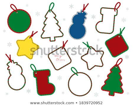 Diamond Christmas Tree / Holiday background with tag and copy sp stock photo © Taiga