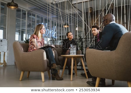 четыре молодые бизнеса бизнесмен мужчин Сток-фото © photography33