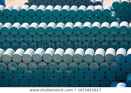 oil barrels stacked up stock photo © tashatuvango