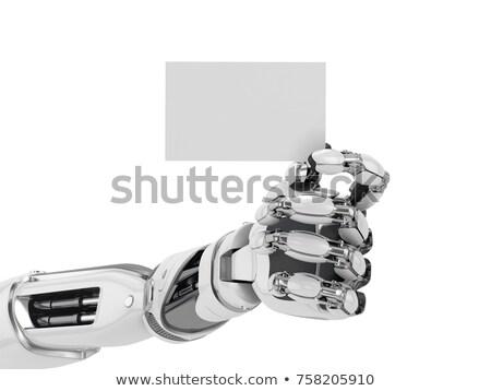 Robot kéz névjegy 3d render robotikus kar Stock fotó © AlienCat