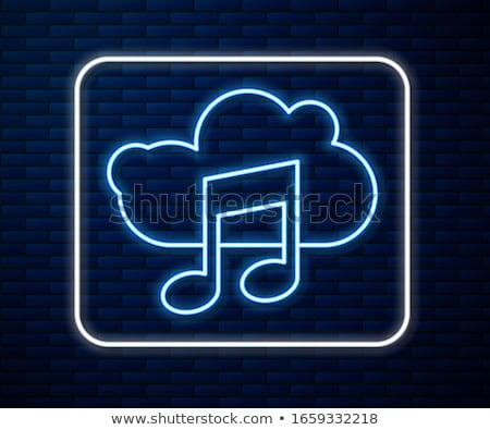 Müzik dijital Internet bilgisayarlar yeşil Stok fotoğraf © Lightsource