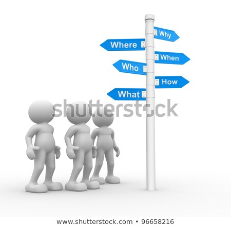 3d People with road sign wrong way Stock photo © Quka