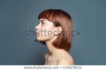 Lányok profil ázsiai lány arc felfelé néz Stock fotó © KMWPhotography