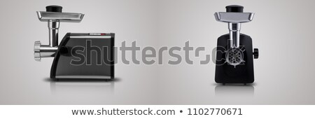 elektrik · et · öğütücü · yalıtılmış · beyaz · yan - stok fotoğraf © ozaiachin