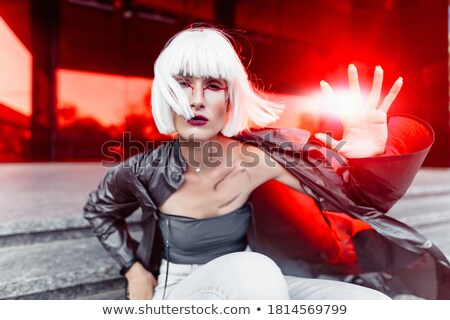 Photo of beautiful woman is in modern style, cool lady Stock photo © Victoria_Andreas