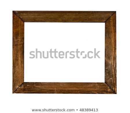 vintage picture frame wood plated white background clipping p stock photo © oly5