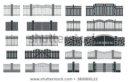 Gate in the palisade Stock photo © hraska