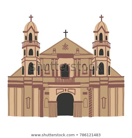 ブラウン 教会 鐘 塔 歴史的 ストックフォト © rhamm