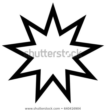 Religii symbol dziewięć star tle boga Zdjęcia stock © shawlinmohd