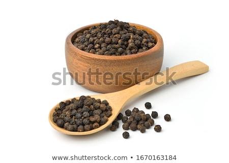 pimenta · preta · madeira · preto · planta · cozinhar · quente - foto stock © stevanovicigor