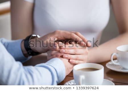 Sevgili dokunmak diğer şehvetli çift Stok fotoğraf © konradbak