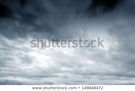 Stok fotoğraf: Fırtınalı · gökyüzü · gri · bulutlar · öğleden · sonra · güneş