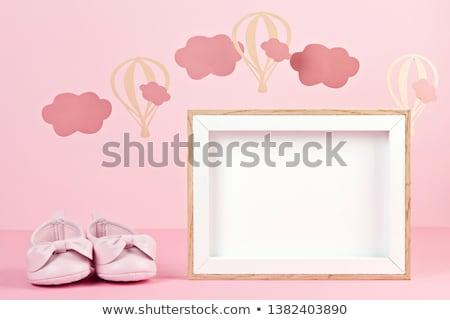 Baby arrival card concept Stock photo © burakowski