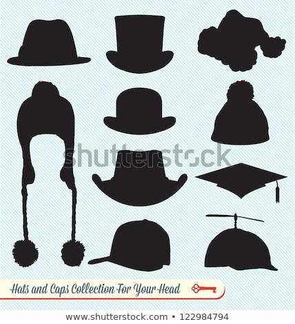ベクトル アイコン 帽子 プロペラ ストックフォト © zzve