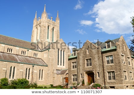 igreja · Montreal · gótico · estilo · subúrbio · Canadá - foto stock © aladin66