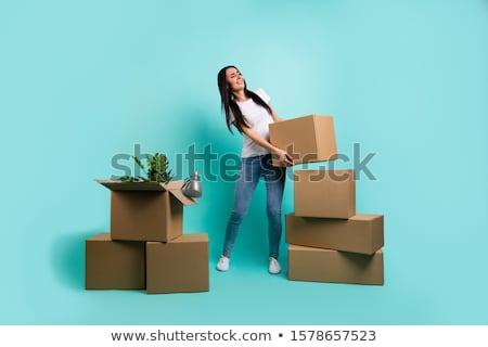 real brunete young girl Stock photo © Studiotrebuchet