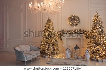 chrismas tree with candles Stock photo © meinzahn
