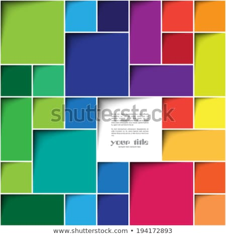 Multicolored small blocks abstract background illustration. Stock photo © latent