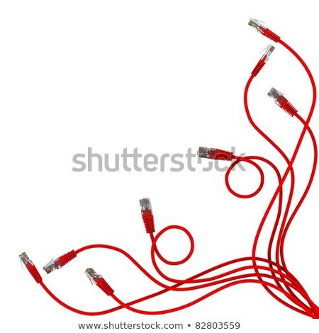 computador · lan · cabos · router · branco · cabo - foto stock © cherezoff