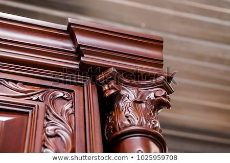 Eski ahşap mobilya kibir tablo sandalye Stok fotoğraf © smuki