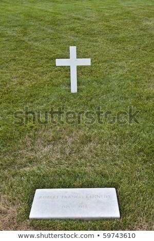modest tomb of robert kennedy in arlington national cemetery ar stock photo © meinzahn
