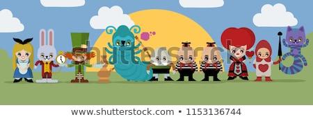 Characters from wonderland crazy hatter and red queen Stock photo © DedMorozz