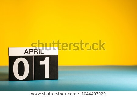 April the first, Fool's day, on table calendar Stock photo © stevanovicigor
