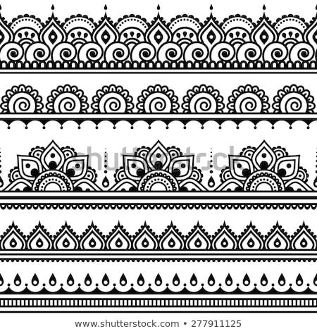Hint dizayn Meksika kabile semboller ayarlamak Stok fotoğraf © vadimmmus