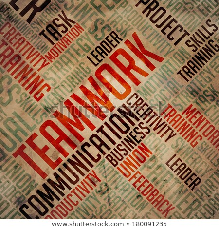 Teamwork - Grunge Wordcloud. Stock photo © tashatuvango