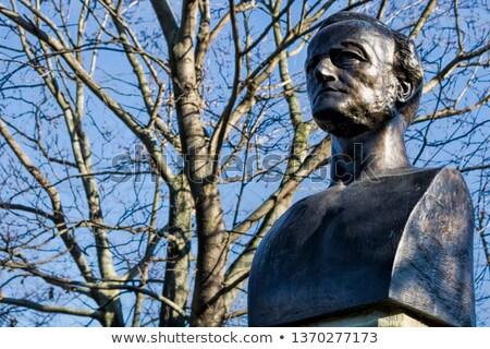 statue of richard wagner in leipzig stock photo © meinzahn