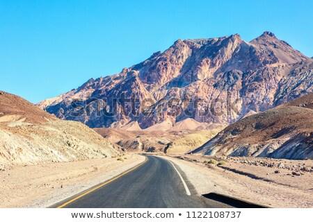 Stockfoto: Weg · drive · dood · vallei · wereld · woestijn