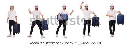 Knappe man witte hoed gezicht sexy mode Stockfoto © Nejron
