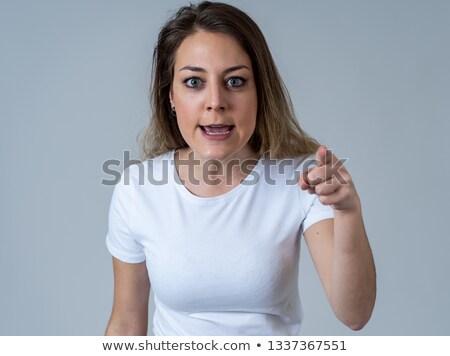 Сток-фото: Making A Anger Face