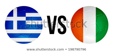 Griekenland vs Ivoorkust groep fase wedstrijd Stockfoto © smocker03