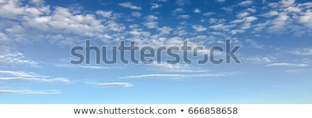 Bright white and dark stormy cumulus clouds with a blue sky in t Stock photo © Nejron