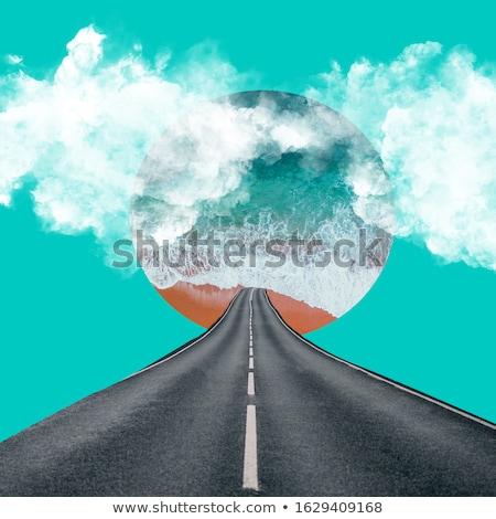 скорости · шоссе · коллаж · аннотация · ночь · быстро - Сток-фото © nejron