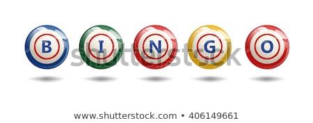 Bingo cards and balls Stock photo © adrenalina