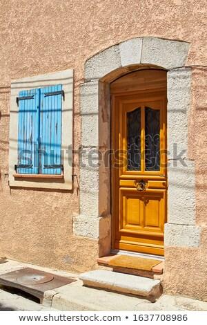 Elnyűtt ablak klasszikus függönyök keret Stock fotó © gemenacom