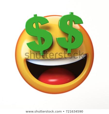 Emoticon bani 3d face tăcere ochi negru Imagine de stoc © mariephoto