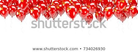 Uçan balonlar bayrak sscb yalıtılmış beyaz Stok fotoğraf © MikhailMishchenko