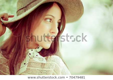 Beauty girl fashion shot outside stock photo © Kor