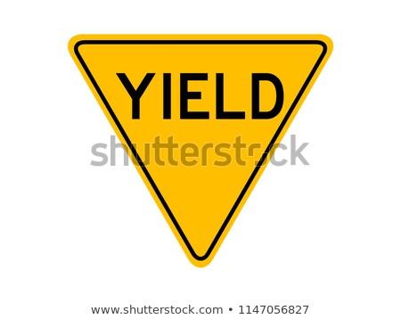 Céder panneau de signalisation route ciel trafic Photo stock © nito