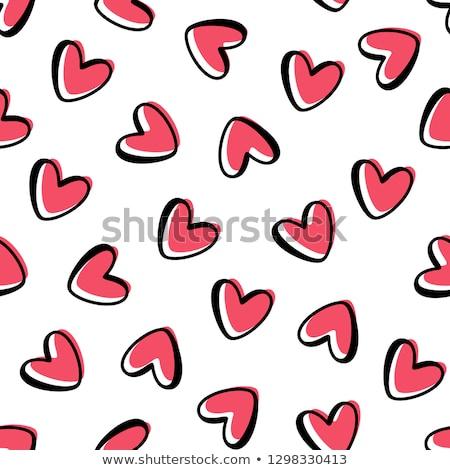 Piros szív végtelen minta terv papír boldog Stock fotó © slunicko
